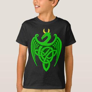 Camiseta céltica verde del niño del dragón