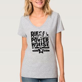Camiseta Central eléctrica diesel americana