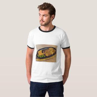 Camiseta Cerdo tailandés del extremo del cuello de la