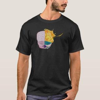 Camiseta Cerebro colorido
