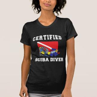 Camiseta certificada de la oscuridad del buceador