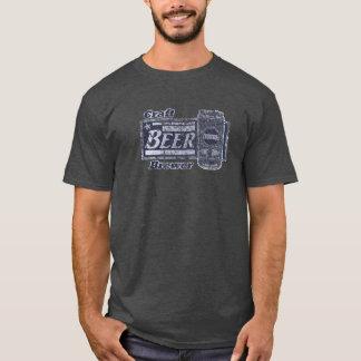 Camiseta Cervecero de la cerveza del arte - el azul y el