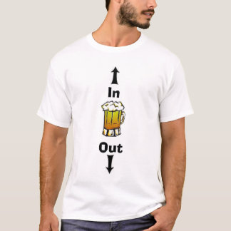 Camiseta Cerveza en cerveza hacia fuera