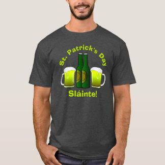 Camiseta Cerveza verde de Sláinte del día de St Patrick