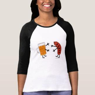 Camiseta Cerveza y Bratwurst - comida amistosa divertida