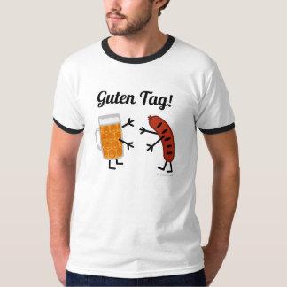 Camiseta ¡Cerveza y Bratwurst - etiqueta de Guten! - Foodie