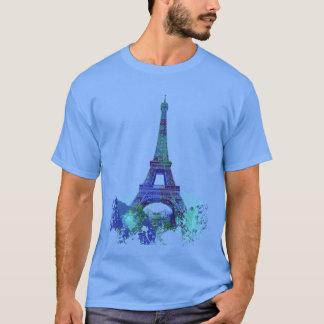 Camiseta Chapoteo del color de Eiffel del viaje del La