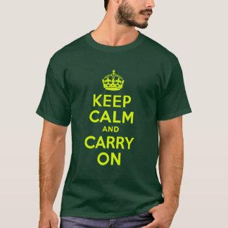 Camiseta Chartreuse guarde la calma y continúe