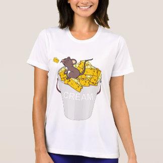 Camiseta chees poner crema del ratón