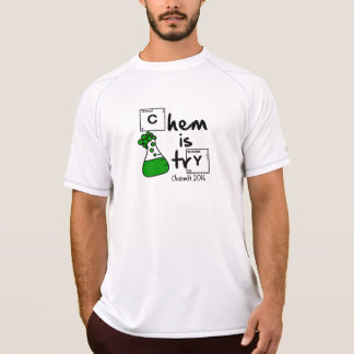 Camiseta Chem es logotipo de Erlenmeyer del intento