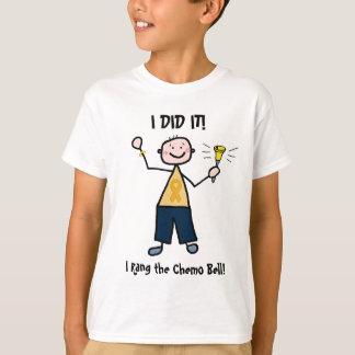 Camiseta Chemo Bell - cinta del oro del cáncer de la niñez