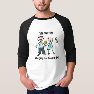 Camiseta Chemo Bell - cinta del trullo del cáncer ovárico