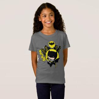 Camiseta Chibi Batman que escala la ciudad