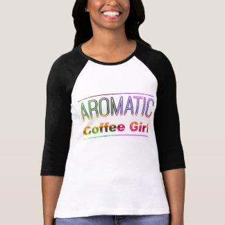 Camiseta Chica aromático del café