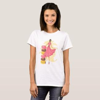 Camiseta Chica con el rosa de Macarons