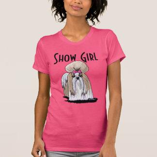 Camiseta Chica de la demostración de Shih Tzu