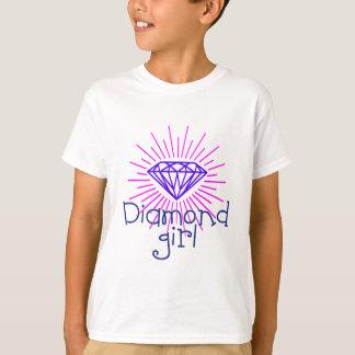 Camiseta chica del diamante, gema que brilla