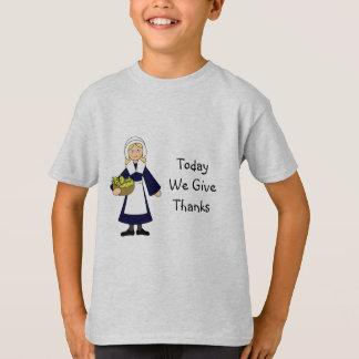 Camiseta Chica del peregrino de la acción de gracias