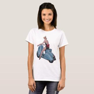 Camiseta Chica descarado atractivo de la vespa