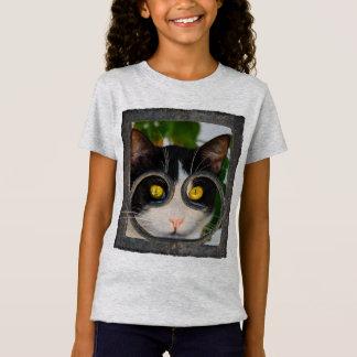 Camiseta Chica divertido curioso de la foto del mascota del