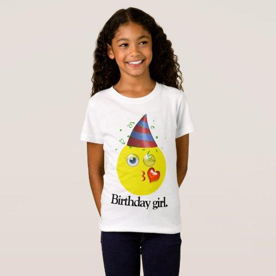 Camiseta Chica Emoji del cumpleaños