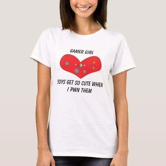 Camiseta Chica Pwns del videojugador lindo
