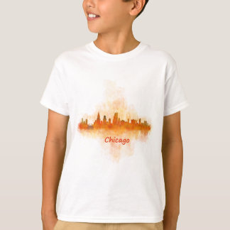 Camiseta chicago Illinois Cityscape Skyline Dark