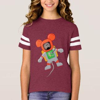 Camiseta Chicas americanos del ratón T del espacio