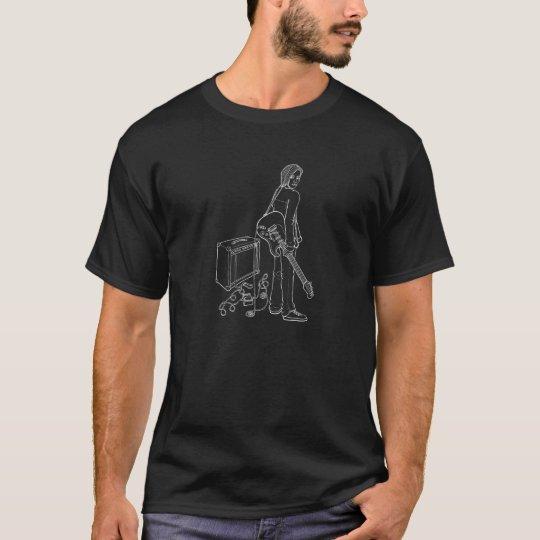 Camiseta chico con guitarra a línea