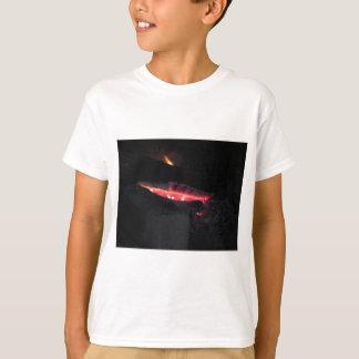 Camiseta Chimenea ardiente con las llamas del fuego en