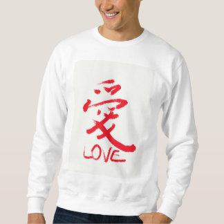 """Camiseta china del """"amor"""" de las letras"""