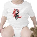 Camiseta china oriental asiática del dragón del añ