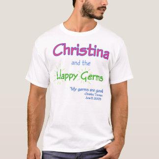 Camiseta Christina y los gérmenes felices