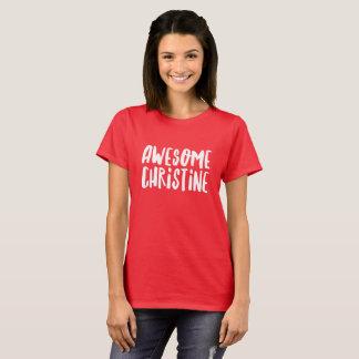 Camiseta Christine impresionante