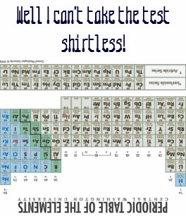 Ropa elementos quimicos la tabla periodica del y moda elementos camiseta chuleta de la qumica de la tabla peridica urtaz Images