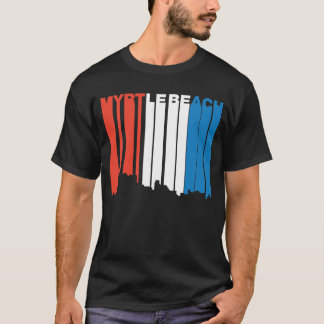 Camiseta Cielo blanco y azul rojo de Myrtle Beach Carolina