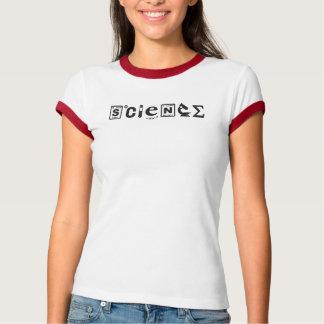 Camiseta Ciencia científica de los símbolos