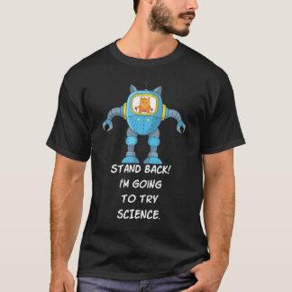 Camiseta Ciencia divertida del robot del científico de la