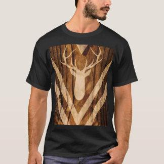 Camiseta Ciervos de Boho en la madera rústica