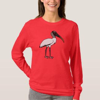 Camiseta Cigüeña de madera de Birdorable
