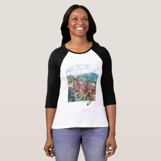 Camiseta Cinque Terre Italia en la Riviera italiana