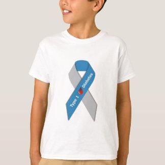 Camiseta Cinta de la conciencia de la diabetes del tipo 1