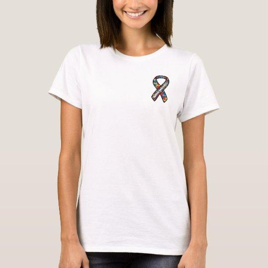 Camiseta Cinta de la conciencia del autismo