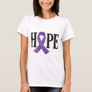 Camiseta Cinta de la púrpura de la esperanza
