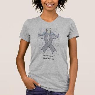 Camiseta Cinta del cáncer de cerebro del ángel