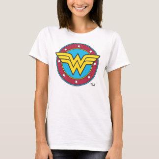 Camiseta Círculo de la Mujer Maravilla el | y logotipo de