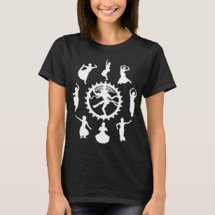Camiseta Círculo de las mujeres indias de la danza oscuras 9d96454de99a8