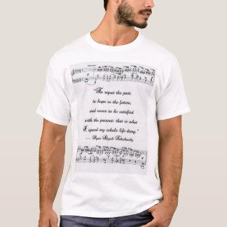 Camiseta Cita 2 de Tchaikovsky con la notación musical