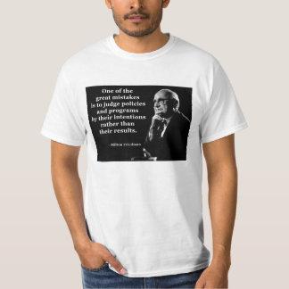 Camiseta Cita de las intenciones de la política de Milton