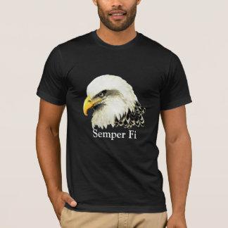 Camiseta Cita de los infantes de marina de Semper Fi Eagle